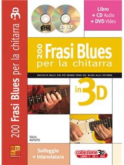 200 Frasi Blues per la Chitarra in 3D Books, CDs and DVDs / Videos | Guitar