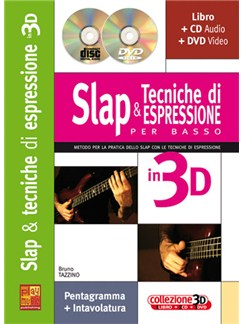 Slap & Tecniche di Espressione per Basso in 3D Books, CDs and DVDs / Videos | Bass Guitar