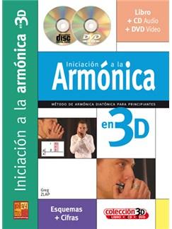 Iniciación a la Armónica en 3D CD, DVDs / Videos y Libro | Harmonica