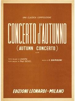 Concerto d'autunno Libro | Piano, Voz y Guitarra