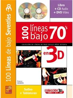 100 Líneas de Bajo Seventies en 3D CD, DVDs / Videos y Libro | Bass Guitar