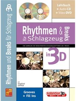Rhythmen und Breaks für Schlagzeug in 3D Books, CDs and DVDs / Videos | Drums