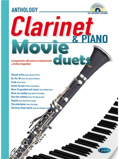 Movie Duets for Clarinet & Piano Books and CDs | Clarinet, Piano