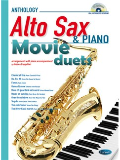 Movie Duets for Alto Sax & Piano Books and CDs | Alto Saxophone, Piano Accompaniment