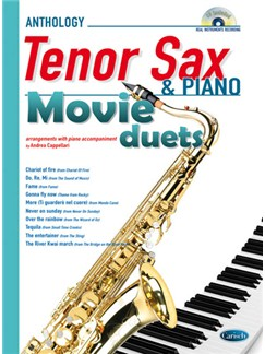 Movie Duets for Tenor Sax & Piano Books and CDs | Tenor Saxophone, Piano Accompaniment