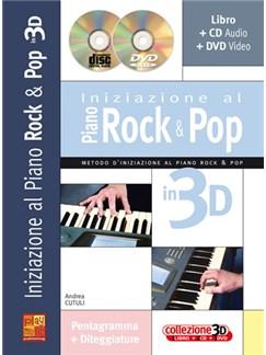 Iniziazione al Piano Rock & Pop in 3D Books, CDs and DVDs / Videos   Piano