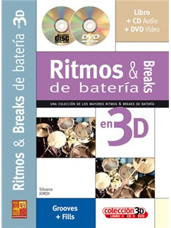 Ritmos & Breaks de Bateria en 3D CD, DVDs / Videos y Libro | Drums