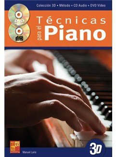 Tecnicas para Piano en 3D CD, DVDs / Videos y Libro | Piano