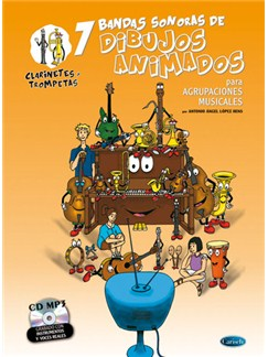 7 Dibujos Animados - Clarinetes y Trompetas Books and CDs | Clarinet, Orchestra