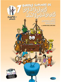 7 Dibujos Animados - Flautas y Oboes Books and CDs | Flute, Oboe