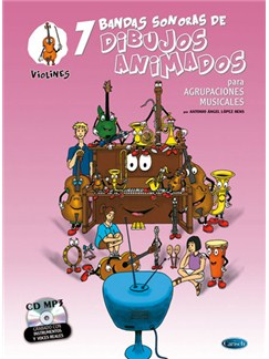 7 Dibujos Animados - Violines Books and CDs | Violin