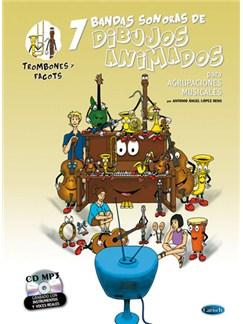 7 Dibujos Animados - Trombones y Fagots Books and CDs | Trombone