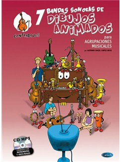 7 Dibujos Animados - Contrabajos Books and CDs | Double Bass