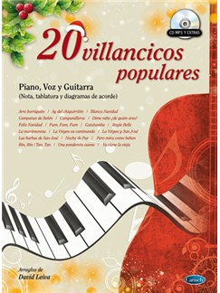 20 Villancicos Populares CD y Libro | Piano, Vocal & Guitar