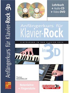 Anfängerkurs für Klavier-Rock in 3D Books, CDs and DVDs / Videos | Piano
