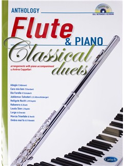 Andrea Cappellari: Classical Duets - Flute/Piano (Book/CD) Books and CDs | Flute, Piano Accompaniment