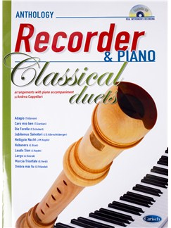 Andrea Cappellari: Classical Duets - Recorder/Piano (Book/CD) Books and CDs | Recorder, Piano Accompaniment