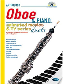 Animated Movies and TV Duets for Oboe And Piano Books and CDs | Oboe, Piano