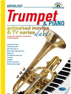 Animated Movies and TV Duets for Trumpet And Piano Books and CDs | Piano, Trumpet