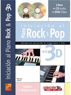 Iniciación al Piano Rock & Pop en 3D CD, DVDs / Videos y Libro | Piano