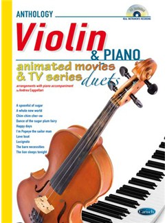 Animated Movies and TV Duets for Violin And Piano Books and CDs | Piano, Violin