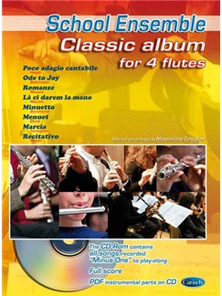 Classic Album for 4 Flutes Books and CDs | Flute (Quartet)