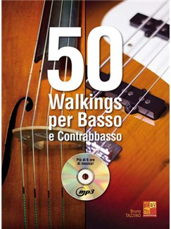 50 Walkings per Basso e Contrabbasso Books and CDs | Bass Guitar