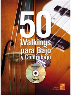 50 Walkings para Bajo y Contrabajo CD y Libro | Bass Guitar