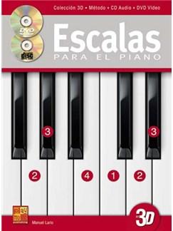 Escalas para el piano en 3D CD y Libro | Piano