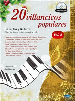 20 Villancicos Populares: Piano, Voz Y Guitarra - Vol.2 (Libro/CD) Books | Piano, Vocal & Guitar