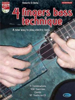 Bella 4 Fingers Bass Technique Bk/Cd Books and CDs | Bass Guitar