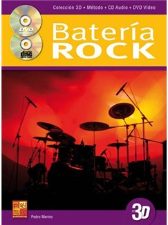Bateria Rock Drums 3d Bk/Cd/Dvd Books and CDs | Drums
