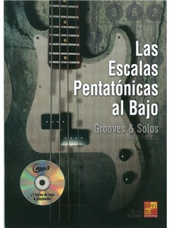 Las Escalas Pentatónicas Al Bajo (Book/CD) Books and CDs | Bass Guitar