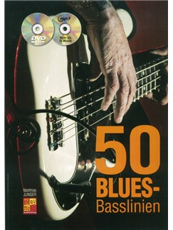 Matthias Junger: 50 Blues-Basslinien (Book/CD/DVD) Books, CDs and DVDs / Videos | Bass Guitar