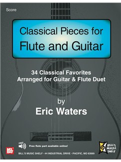 Classical Pieces for Flute and Guitar Books | Guitar