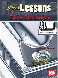 David Barrett: First Lessons Blues Harmonica (Book/Online Audio/Video) Books and Digital Audio | Harmonica