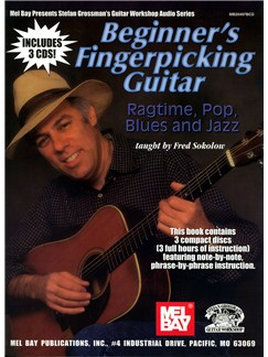 Fred Sokolow: Beginner's Fingerpicking Guitar - Ragtime, Pop, Blues And Jazz Books and CDs   Guitar