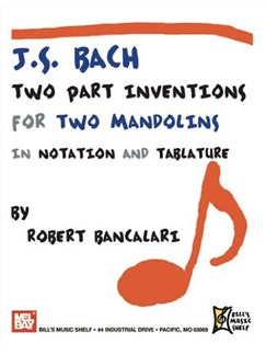 J.S. Bach: Two Part Inventions for Two Mandolins Books | Mandolin