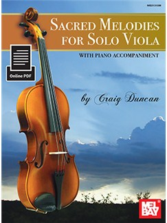 Craig Duncan: Sacred Melodies For Solo Viola (Book/Online PDF) Books and Digital Audio | Viola
