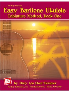 Easy Baritone Ukulele - Tablature Method Book One Books | Ukulele