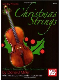 Christmas Strings:  Cello & Bass With Piano Accomp. Books | Cello