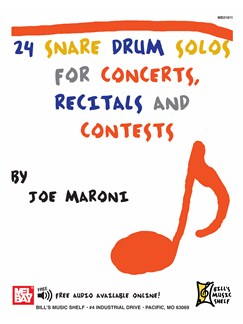 24 Snare Drum Solos Books | Snare Drum