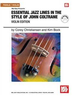 Essential Jazz Lines in the Style of John Coltrane, Violin Edition Books and CDs   Flute