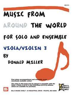 Music From Around The World For Solo & Ensemble, Viola-Violin Books | Viola