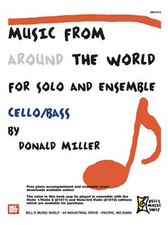 Music From Around The World For Solo & Ensemble, Cello-Bass Books | Cello
