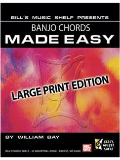 Banjo Chords Made Easy, Large Print Edition Books | Banjo