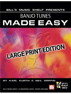 Banjo Tunes Made Easy, Large Print Edition Books | Banjo, Banjo Tab