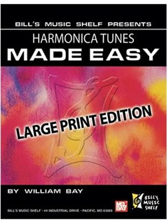 Harmonica Tunes Made Easy, Large Print Edition Books | Harmonica
