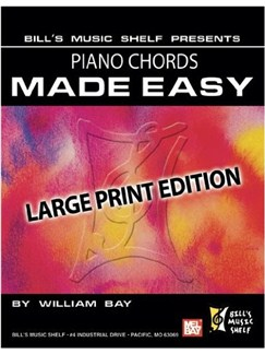 Piano Chords Made Easy, Large Print Edition Books | Piano