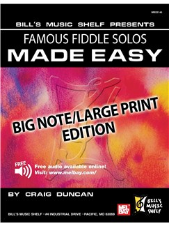 Famous Fiddle Solos Made Easy - Big Note/Large Print Edition Books | Violin